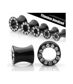 -Titanium-anodiseret saddel tunnel piercing