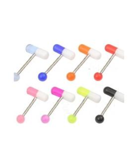 Tungepiercinger med pille/kapsel
