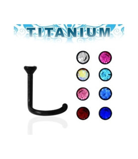 Titanium næsepiercing - mange flotte farver cz.