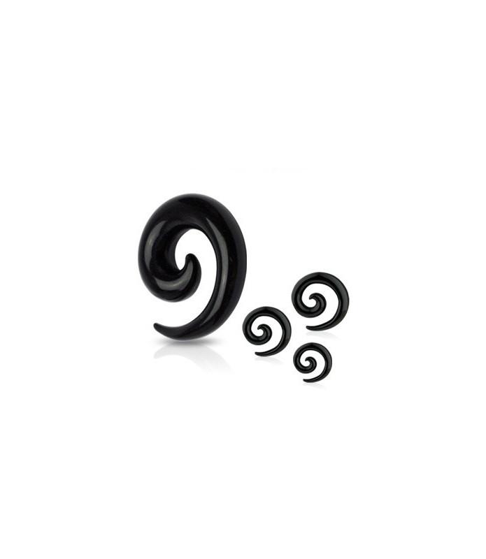 Taper spiral i sort acryl - mange størrelser