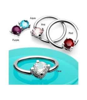 Closure ball ringe med flotte krystaller