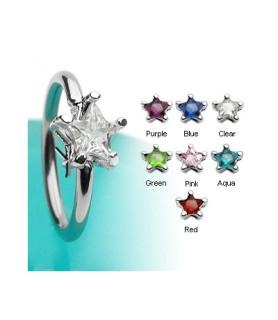Closure ball ringe med stjerneformede krystaller