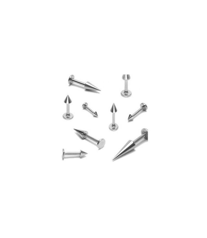 Labret med cone/spike gauge 14 - 1,6 mm