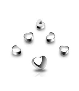 Hjerteformet topkugle til f.eks. tungepiercing