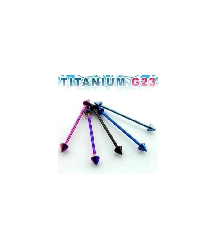 Titanium industrialpiercing med cones/spikes