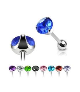 -Lækkert designede tunge-piercinger med stor CZ