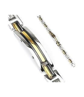 Smart 316L Rustfrit stål armbånd tricolor design