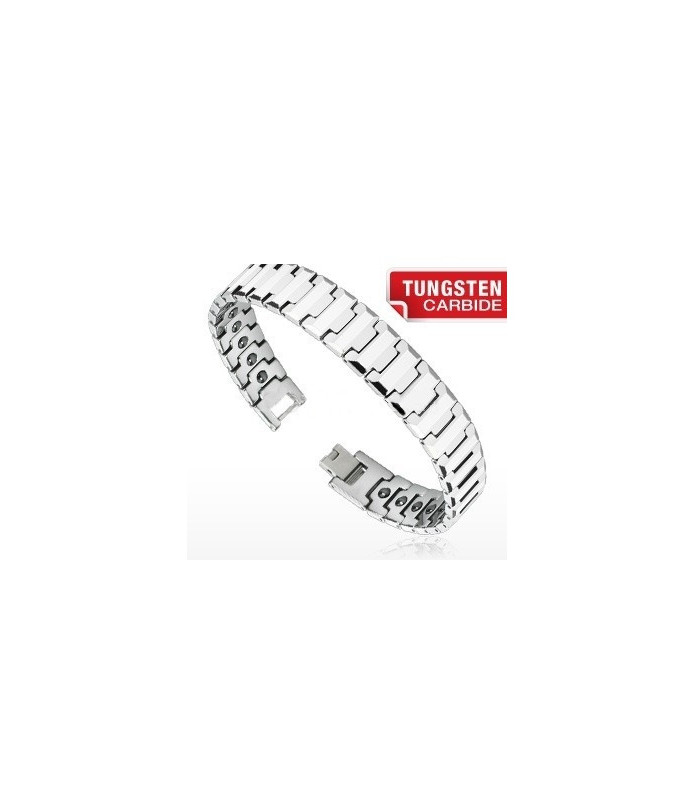 "Tungsten carbide armbånd ""Flad Facet""."