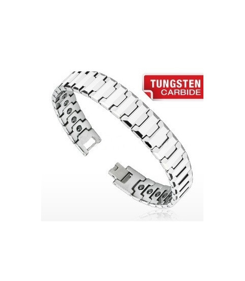 "Tungsten carbide armbånd ""Flad Facet"""