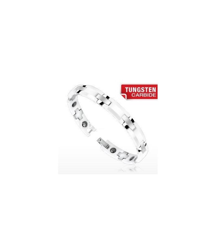 "Tungsten carbide og ceramic armbånd ""Duo-tone"""