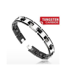 """Tungsten carbide armbånd  """"Dou tone blackline"""""""