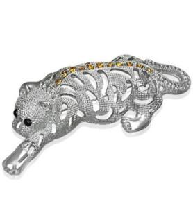 Stor flot broche Tiger design