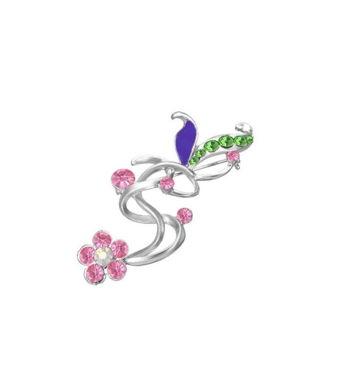 Multicolor krystaller broche design blomst