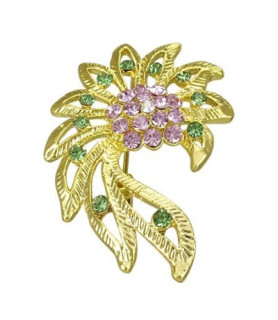 Flotte guldbelagte brocher - sirena blomster petal
