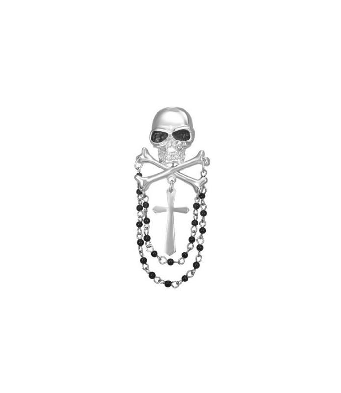 Broche med skull and bones.
