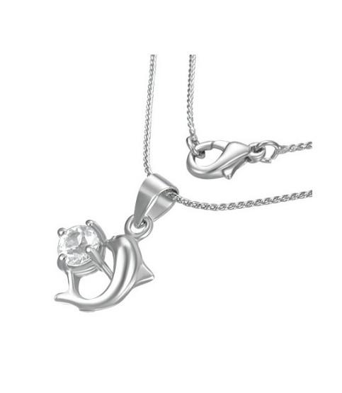 Flot halskæde med Love Delfin.