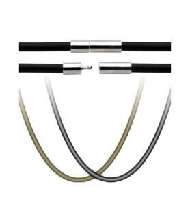 Halskæde i O-rings gummi - 3 varianter.