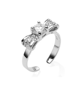 Elegant tåring designet som butterfly i ægte sølv besat med flotte klare zirkonia sten