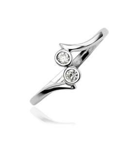 Stilfuld tåring i Sterling sølv med flotte cirkulære zirkonia
