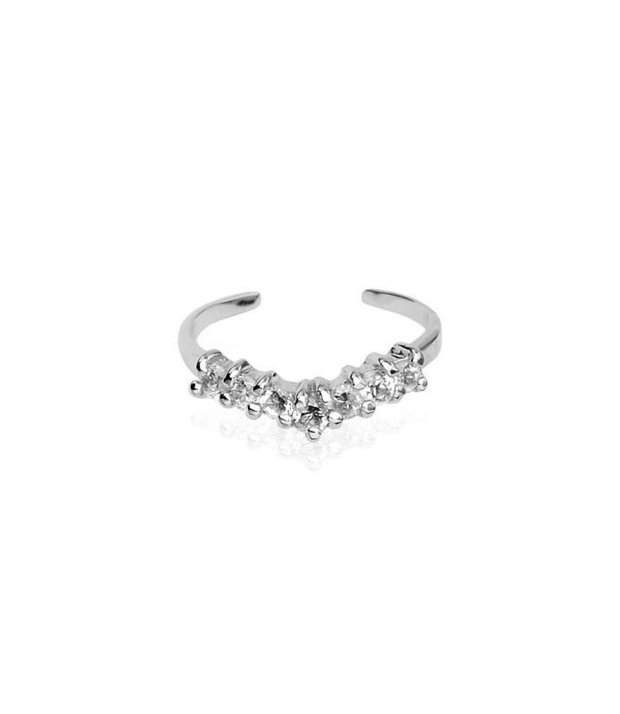 Sterling sølv tåring, fineste kvalitet cubic zirconia sten
