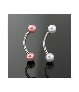 """Øjenbryns piercinger med """"perler"""""""