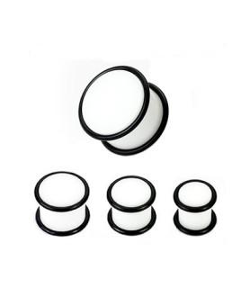 Hvid øreplug med O-ringe 10 Str.