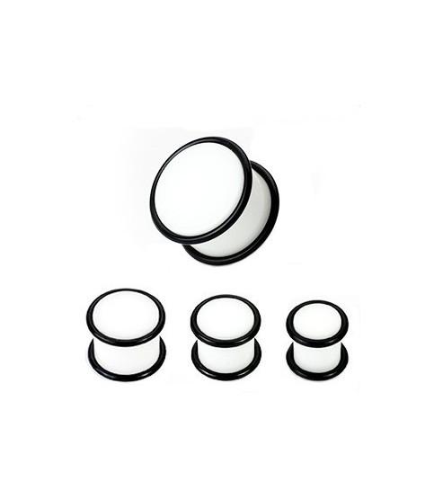 Hvid øreplug med O-ringe 6 Str.