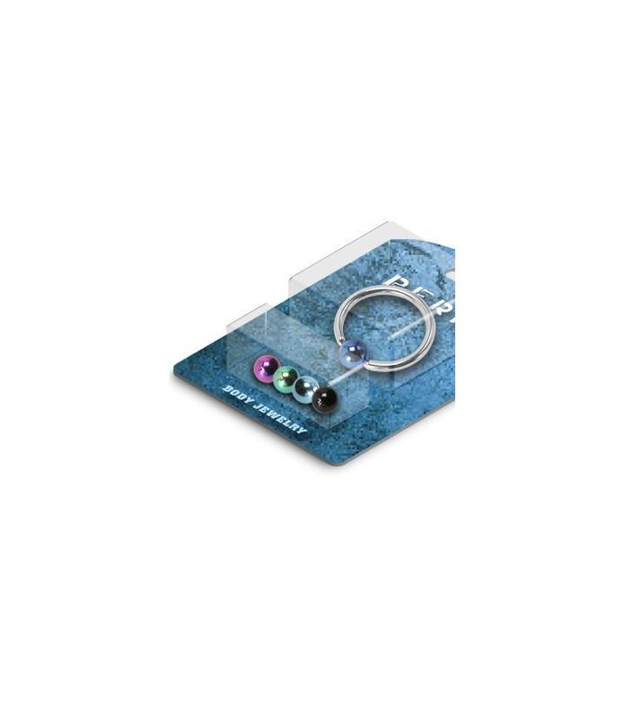 Pakke med 1 CBR piercing (G12) og 5 titaniumkugler