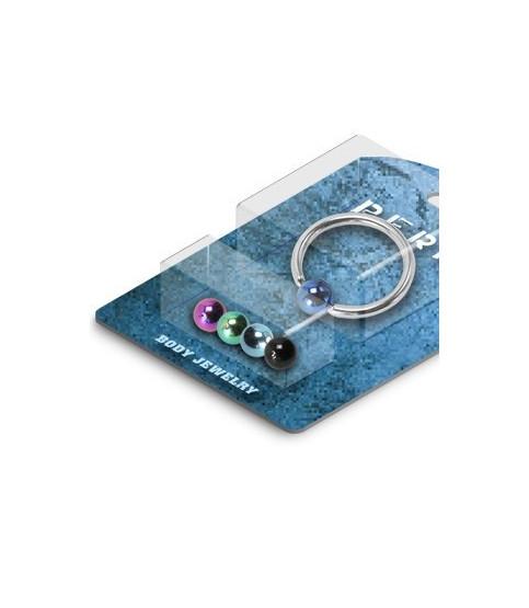 Pakke med 1 CBR piercing og 5 titaniumkugler