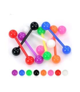 Tungepiercinger i bioflex 8 hotte farver