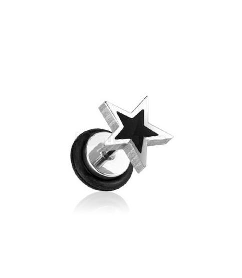 Fake plug piercing med lasercut stjerne