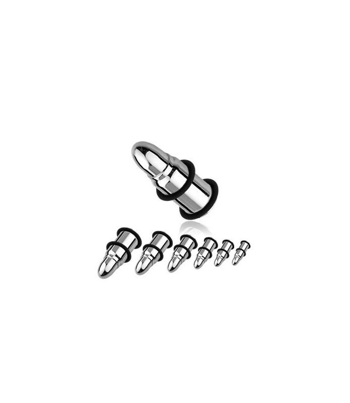 Øreplug til stretch formet som patron i rent kirurgisk stål.