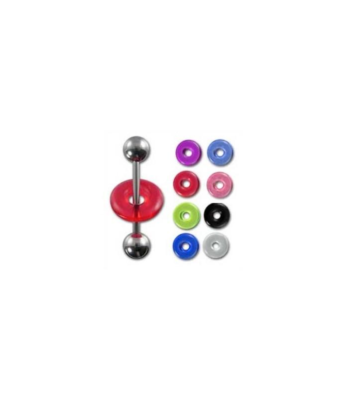 UFO-Donut til din tungepiercing mange farver