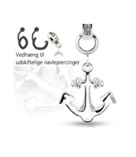 Ad-on-Charm til navlepiercinger - Skibs Anker