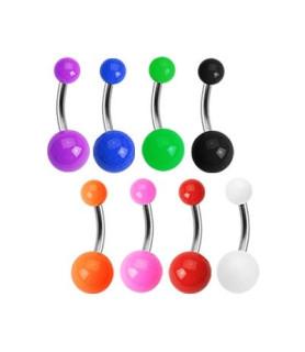 Titanium navlepiercing smykker i klare farver