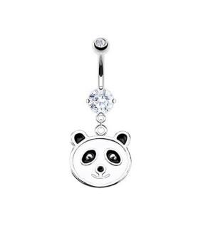 Sød Panda-bamse til din navlepiercing.