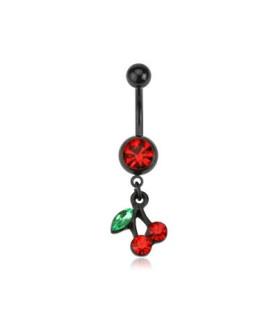 Blackline navle-smykke med Cherry