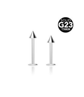 Labret med spike i G23 ren titanium