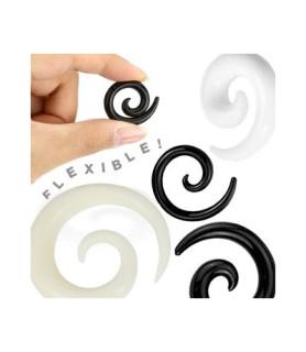 Lækker spiraltaper i silikone. Sort eller hvid.