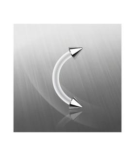Fleksibel øjenbrynspiercing med stål Cones