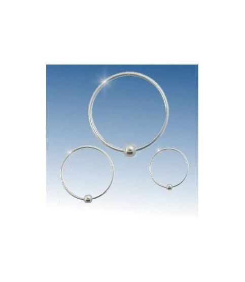 Sølv Ring Closure ball G22 Dia. 9 mm.