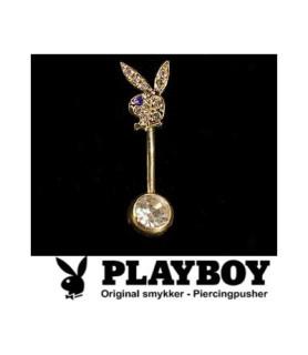 Playboy™ navlepiercing med flot guldbelægning