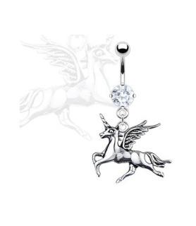 Flot navlepiercing med Pegasus.