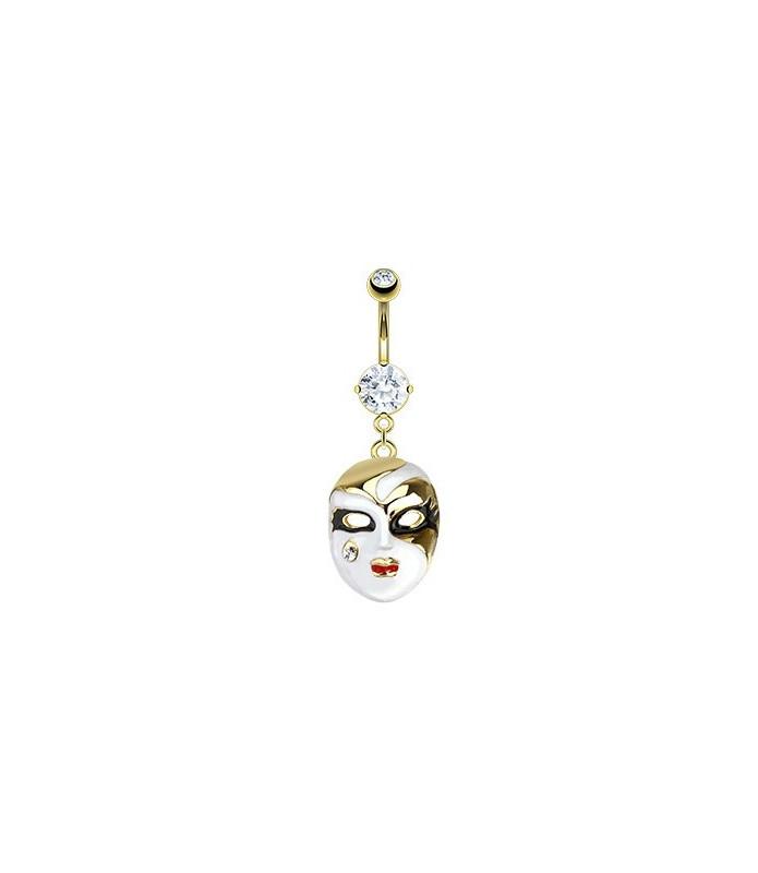 Enestående navlesmykke med Phantom of the opera mask