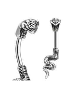 Gennemtrængende Cobraslange til din Navlepiercing