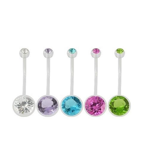 Navlepiercinger til gravide med store krystaller