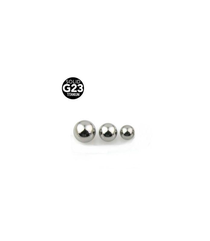 Titanium piercingkugler 1,6 mm (G14)