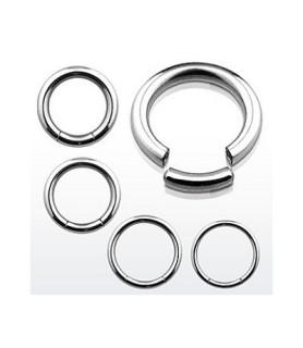 Store segment piercingringe kirurgisk stål