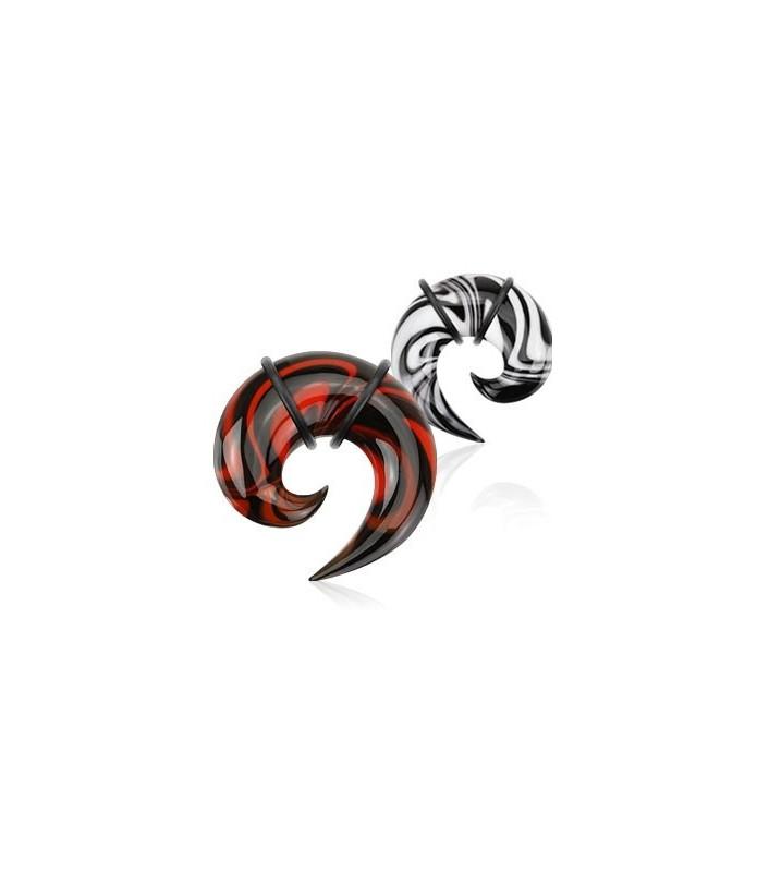 Superflot spiraltaper i Pyrex-glas - 2 farver