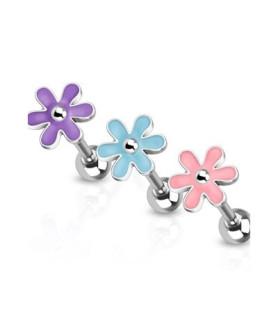 -Søde blomster i tre farver til din tungepiercing